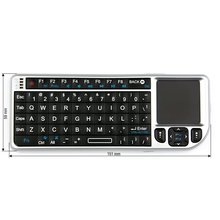 Wireless Ultra Mini Keyboard with Touchpad Silver  - Short description