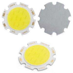 COB LED Chip 5 W (cold white, 450 lm, 28 mm, 300 mA, 15-17 V)