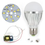 LED Light Bulb DIY Kit SQ-Q02 5730 5 W (cold white, E27)
