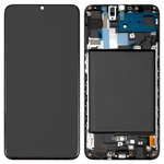 LCD compatible with Samsung A705F/DS Galaxy A70, (black, with touchscreen, Original) #GH82-19747A