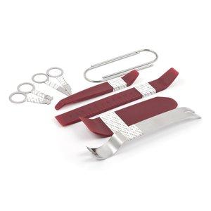 Набор инструментов для снятия обшивки (10 предметов, полиуретан/сталь)