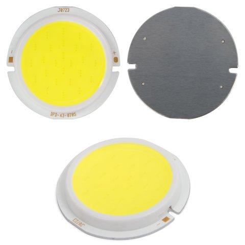 COB LED модуль 7 Вт холодний білий, 450 лм, 43 мм, 300 мА, 21 23 В