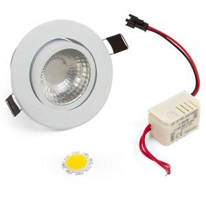 Комплект для сборки потолочного светильника COB 3 Вт (холодный белый)