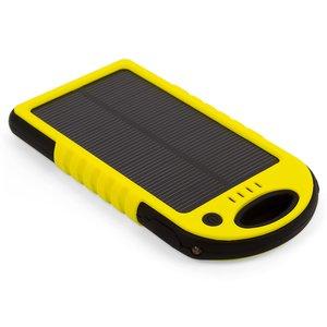 Зарядний пристрій на сонячних батареях 5000 мАг (2×USB, IP65, жовтий)