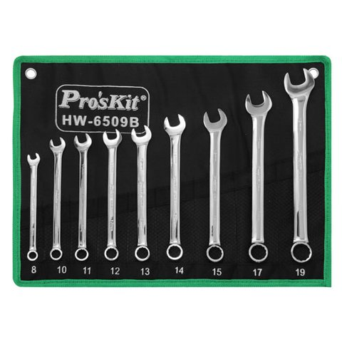 Combination Wrench Set Pro'sKit HW-6509B