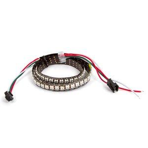 Tira de luces LED RGB SMD5050, WS2812B (con controles, IP67, 144 diodos/m, 1 m)
