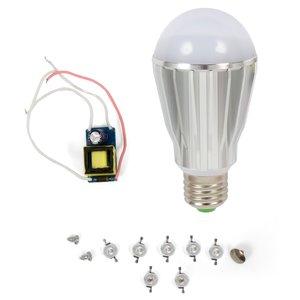 Juego de piezas para armar una lámpara LED para invernaderos SQ-Q17 E27 7 W – cultivo de planteles