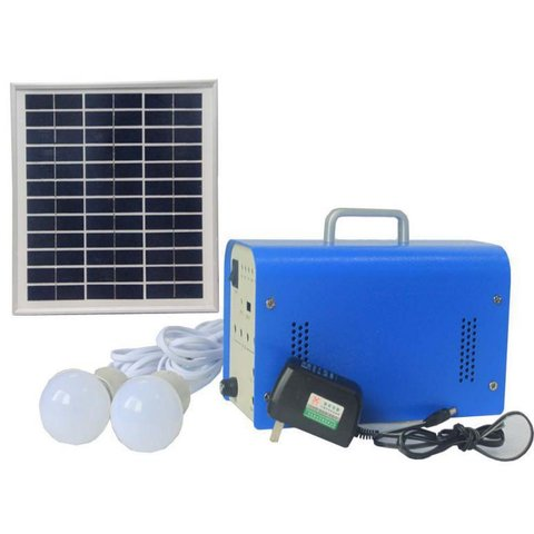 DC Portable Solar Power System, 10 W, 12 V 7.2 Ah, Poly 18 V 10 W