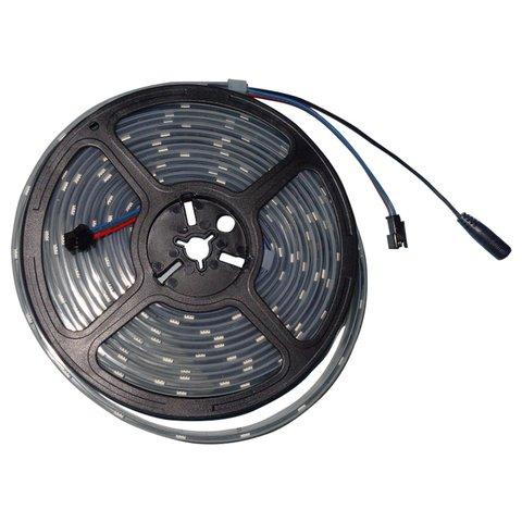 RGB LED Strip SMD5050, WS2813 with controls, black, IP67, 5 V, 30 LEDs m, 5 m