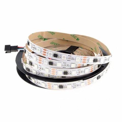 RGB LED Strip SMD5050, WS2811 white, with controls, IP20, 12 V, 60 LEDs m, 5 m
